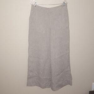 Poetry wide leg linen trousers